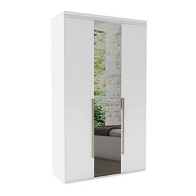 Roupeiro Milano de 3 Portas C/Espelho - Branco