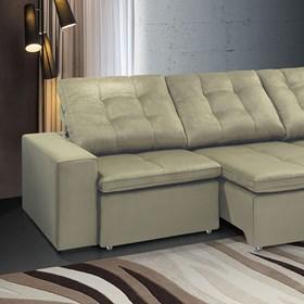 Sofá de Canto Retrátil e Reclinável Taurus 290cm Bege