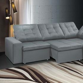 Sofá de Canto Retrátil e Reclinável Taurus 290cm Cinza