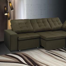 Sofá de Canto Retrátil e Reclinável Taurus 290cm Onix