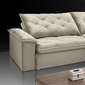 Sofá Retrátil e Reclinável Aldebaran 230cm Bege