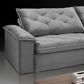 Sofá Retrátil e Reclinável Aldebaran 250cm Cinza