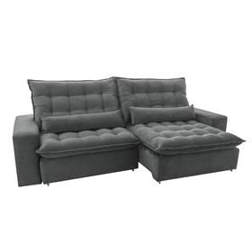 Sofá Retrátil e Reclinável Bérgamo 230cm Cinza