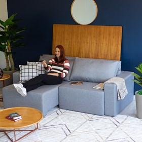 Sofá Retrátil e Reclinável Madison de 3 Lugares 240cm