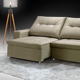 Sofá Retrátil e Reclinável Mônaco 250cm Bege