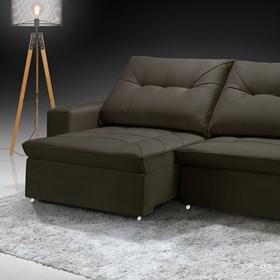 Sofá Retrátil e Reclinável Mônaco 270cm Onix