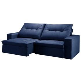 Sofá Retrátil e Reclinável Mônaco de 3 Lugares 270cm - Azul