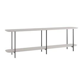 Sofá Table Iron Off White Fosco com Preto Fosco