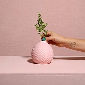 Vaso Bramog em Cerâmica 13,5cm - Rosa
