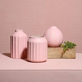 Vaso Bramog em Cerâmica 15,5cm - Rosa