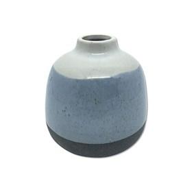 Vaso Kurbeti Médio em Cerâmica 11cm - Azul Claro