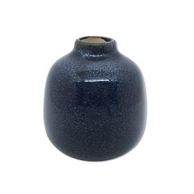 Vaso Kurbeti Médio em Cerâmica 11cm - Azul Escuro