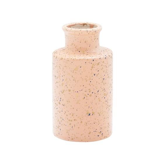 Vaso Marlein em Porcelana 13,5cm - Rosa